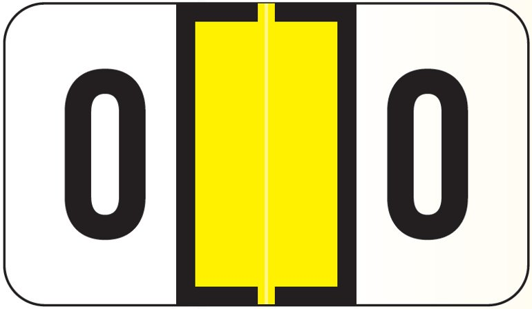 Jeter 5190 Match JXAM Series Alpha Roll Labels - Letter O - Yellow