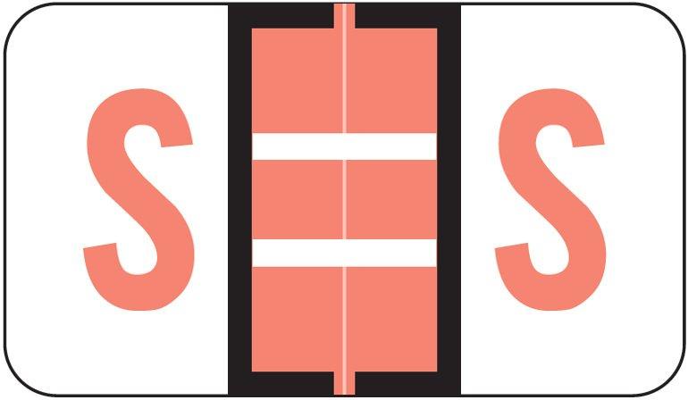 Jeter 5190 Match JXAM Series Alpha Roll Labels - Letter S - Pink