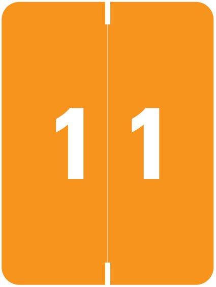 Kardex Match KDNM Series Numeric Roll Labels - Number 1 - Orange