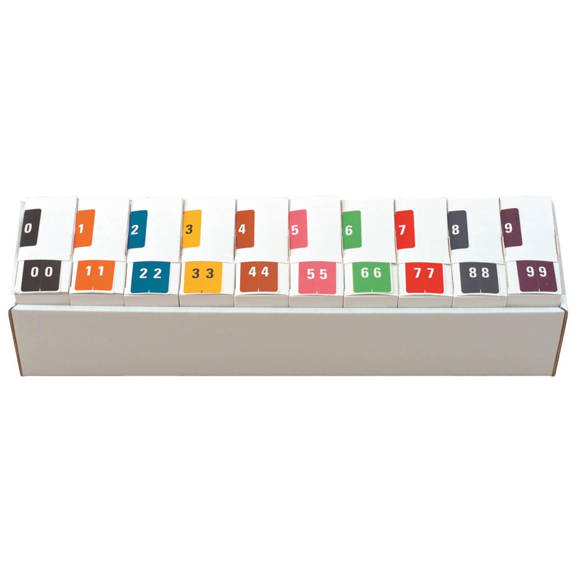 Kardex Match KDNM Series Numeric Roll Labels - Set of Number 0 To 9