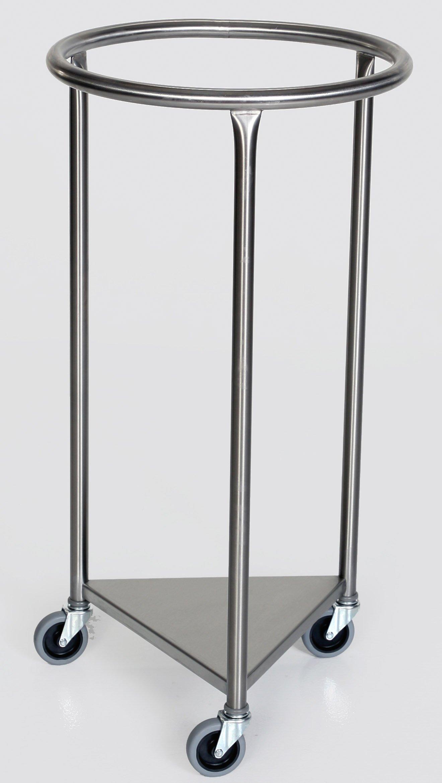 Stainless Steel Round Linen Hamper - 18