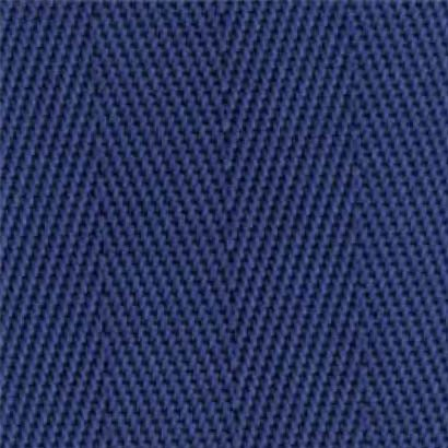 1-Piece Nylon Strap with Metal Roller Friction Buckle - 7' - Blue