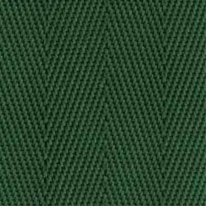 1-Piece Nylon Strap with Metal Double D Rings Buckle - 12' - Green