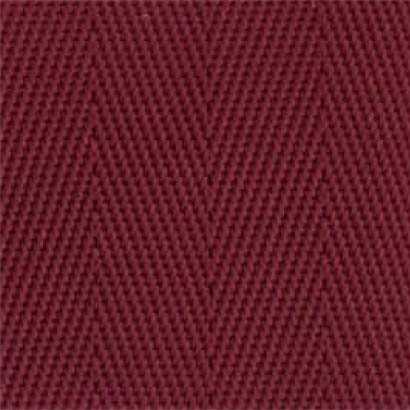 1-Piece Nylon Strap with Metal Double D Rings Buckle - 12' - Maroon