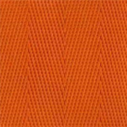 2-Piece Nylon Strap with Metal Push Button Buckle & Loop-Lok Ends - 7' - Orange