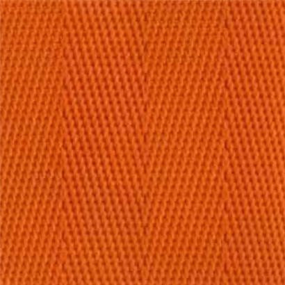 2-Piece Nylon Strap with Metal Push Button Buckle & Metal Roller Loop Ends - 5' - Orange