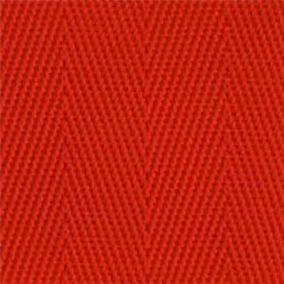 1-Piece Nylon Strap with Metal Double D Rings Buckle - 12' - Red