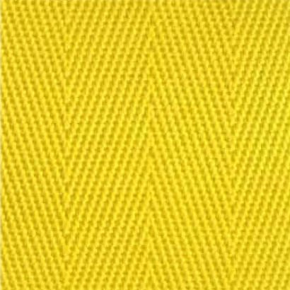 2-Piece Nylon Strap with Metal Push Button Buckle & Metal Roller Loop Ends - 5' - Yellow