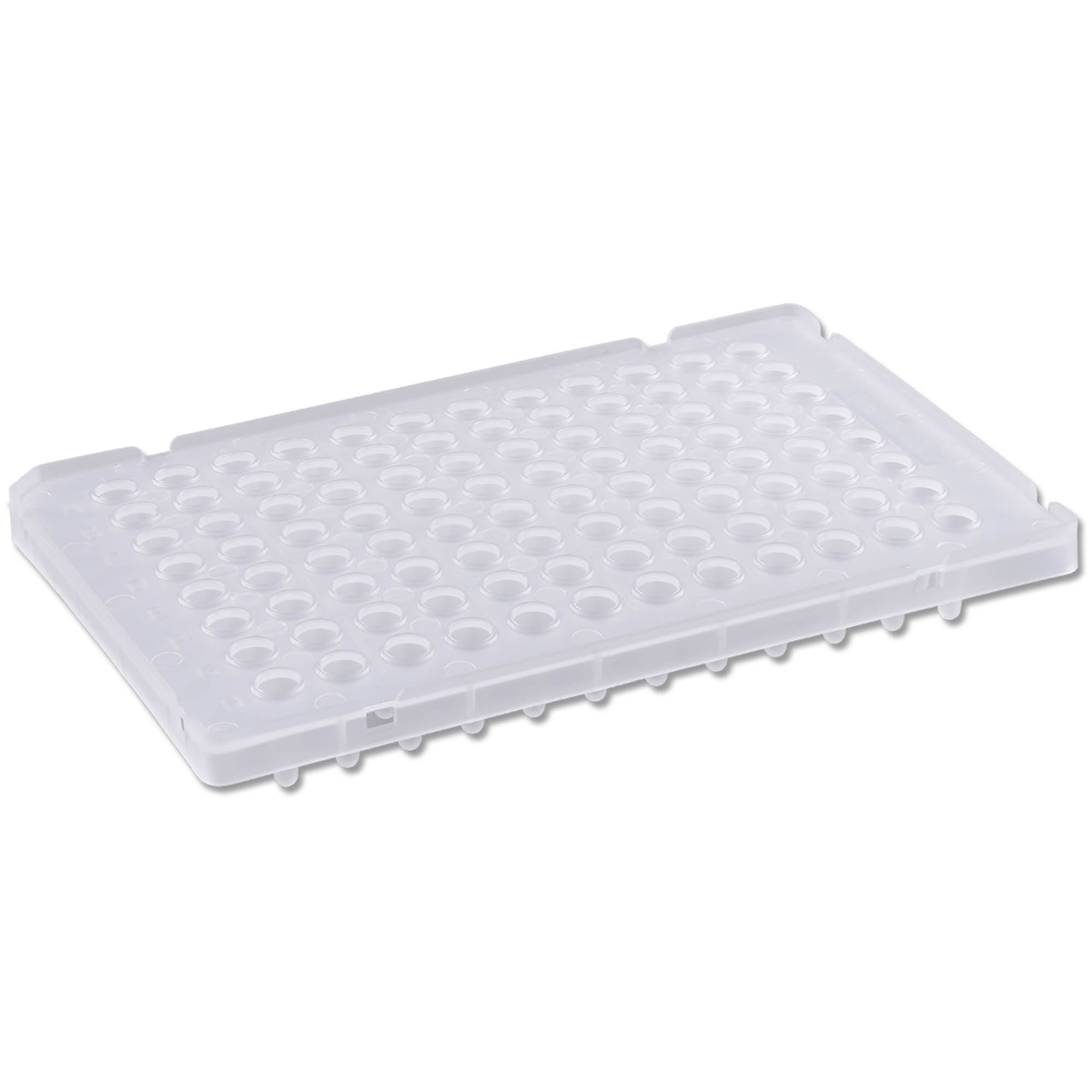PureAmp Low Profile/Fast 96-Well x 0.1mL PCR Plates - Semi Skirted with Raised Rim, Natural (Pack of 50) - ON BACKORDER UNTIL 6/30/2021