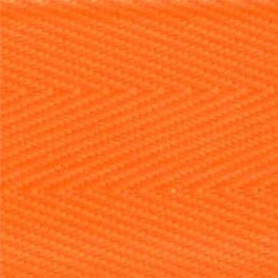 2-Piece Patho-Shield Strap with Plastic Side Release Buckle & Metal Roller Loop Ends - 7' - Orange