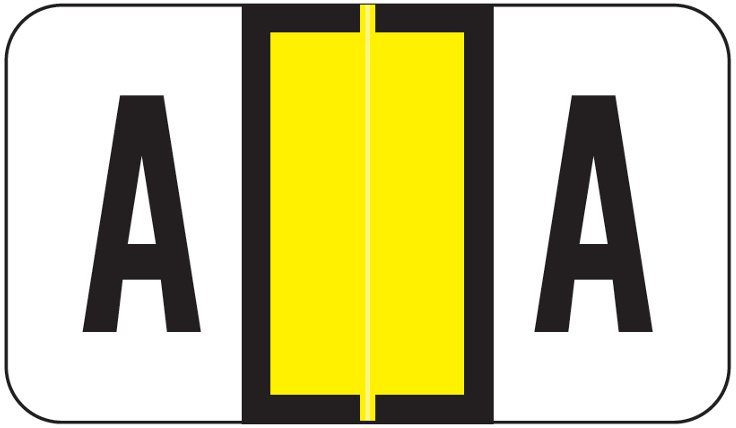 POS 3400 Match POAM Series Alpha Roll Labels - Letter A - Yellow