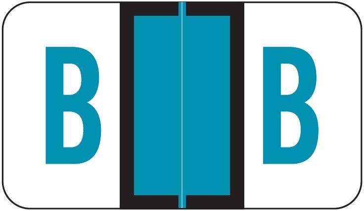 POS 3400 Match POAM Series Alpha Roll Labels - Letter B - Blue