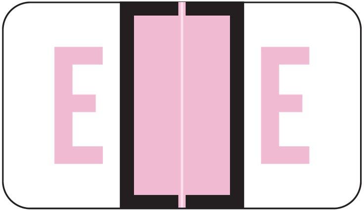 POS 3400 Match POAM Series Alpha Roll Labels - Letter E - Lilac
