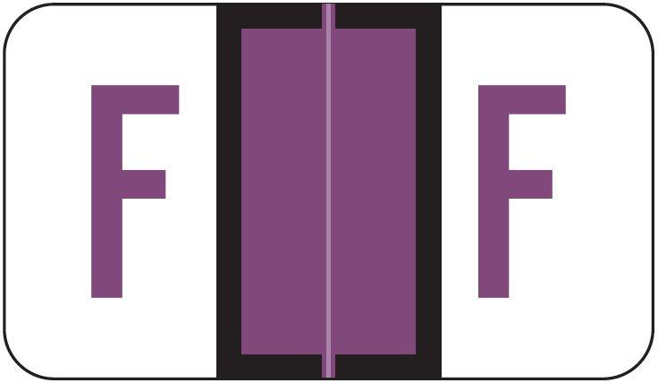 POS 3400 Match POAM Series Alpha Roll Labels - Letter F - Purple