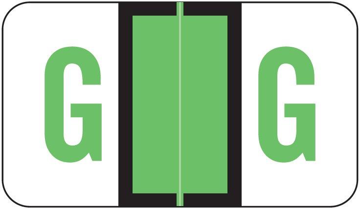 POS 3400 Match POAM Series Alpha Roll Labels - Letter G - Light Green