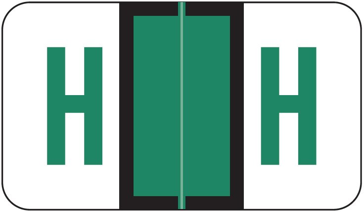 POS 3400 Match POAM Series Alpha Roll Labels - Letter H - Dark Green