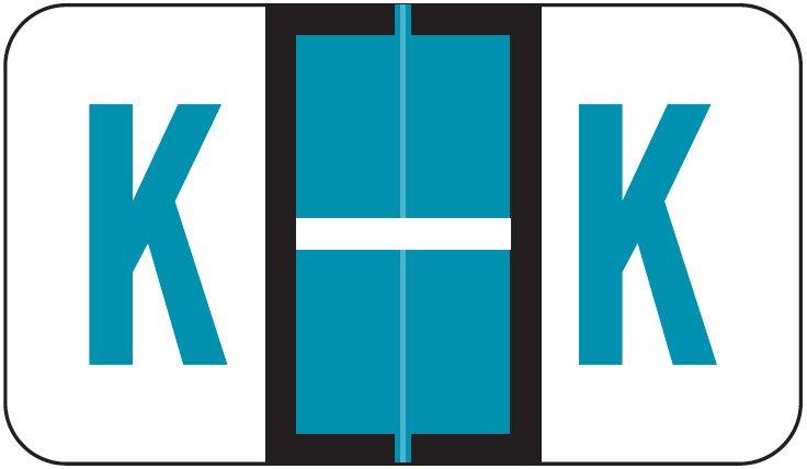 POS 3400 Match POAM Series Alpha Roll Labels - Letter K - Blue