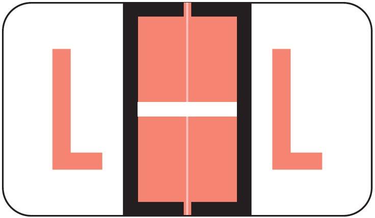 POS 3400 Match POAM Series Alpha Roll Labels - Letter L - Pink