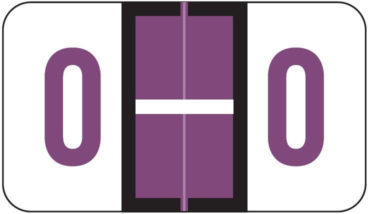 POS 3400 Match POAM Series Alpha Roll Labels - Letter O - Purple