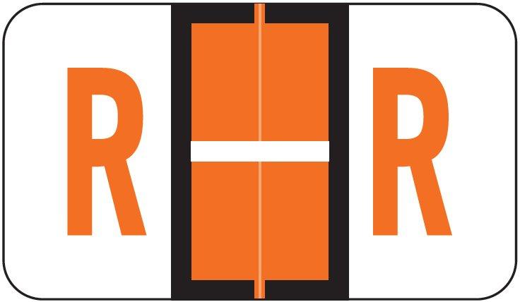 POS 3400 Match POAM Series Alpha Roll Labels - Letter R - Orange