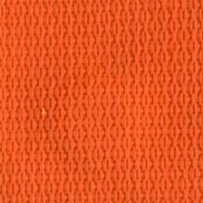 1-Piece Polypropylene Strap with Metal Double D Rings Buckle - 9' - Orange