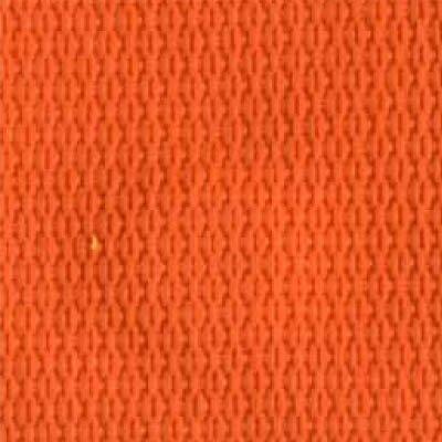 2-Piece Polypropylene Strap with Metal Push Button Buckle & Metal Roller Loop Ends - 7' - Orange