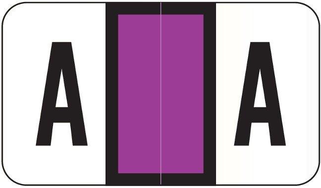 POS 2000 Match PP3R Series Alpha Sheet Labels - Letter A - Purple