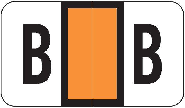 POS 2000 Match PP3R Series Alpha Sheet Labels - Letter B - Orange