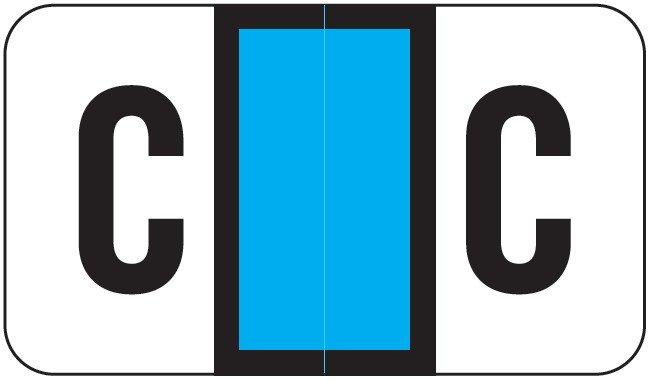 POS 2000 Match PP3R Series Alpha Sheet Labels - Letter C - Light Blue