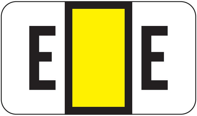 POS 2000 Match PP3R Series Alpha Sheet Labels - Letter E - Yellow