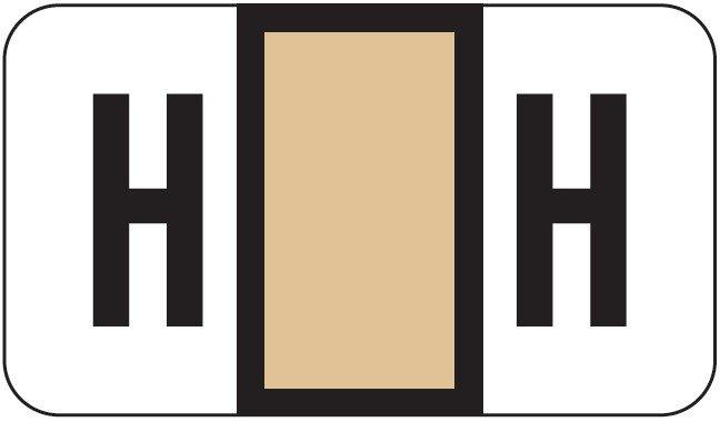 POS 2000 Match PP3R Series Alpha Sheet Labels - Letter H - Tan
