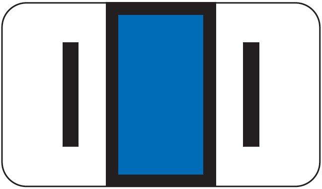 POS 2000 Match PP3R Series Alpha Sheet Labels - Letter I - Dark Blue