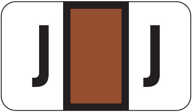 POS 2000 Match PP3R Series Alpha Sheet Labels - Letter J - Brown