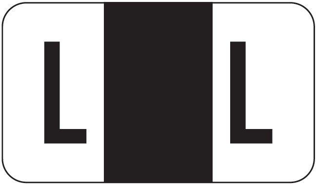 POS 2000 Match PP3R Series Alpha Sheet Labels - Letter L - Black