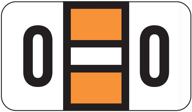 POS 2000 Match PP3R Series Alpha Sheet Labels - Letter O - Orange and White