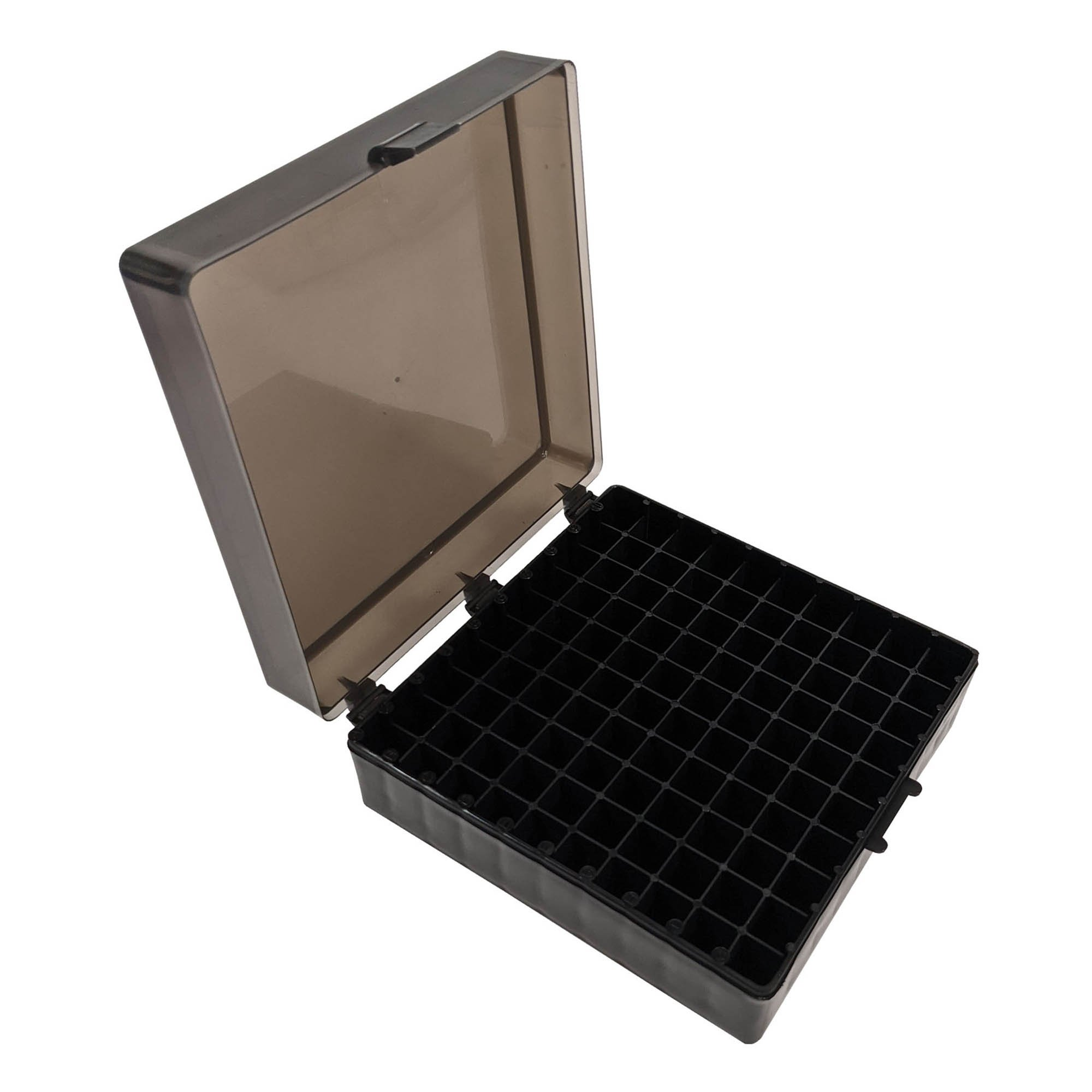 Storage Box with Hinged Lid for 100 x 1.5mL Tubes - Black (Pack of 5)