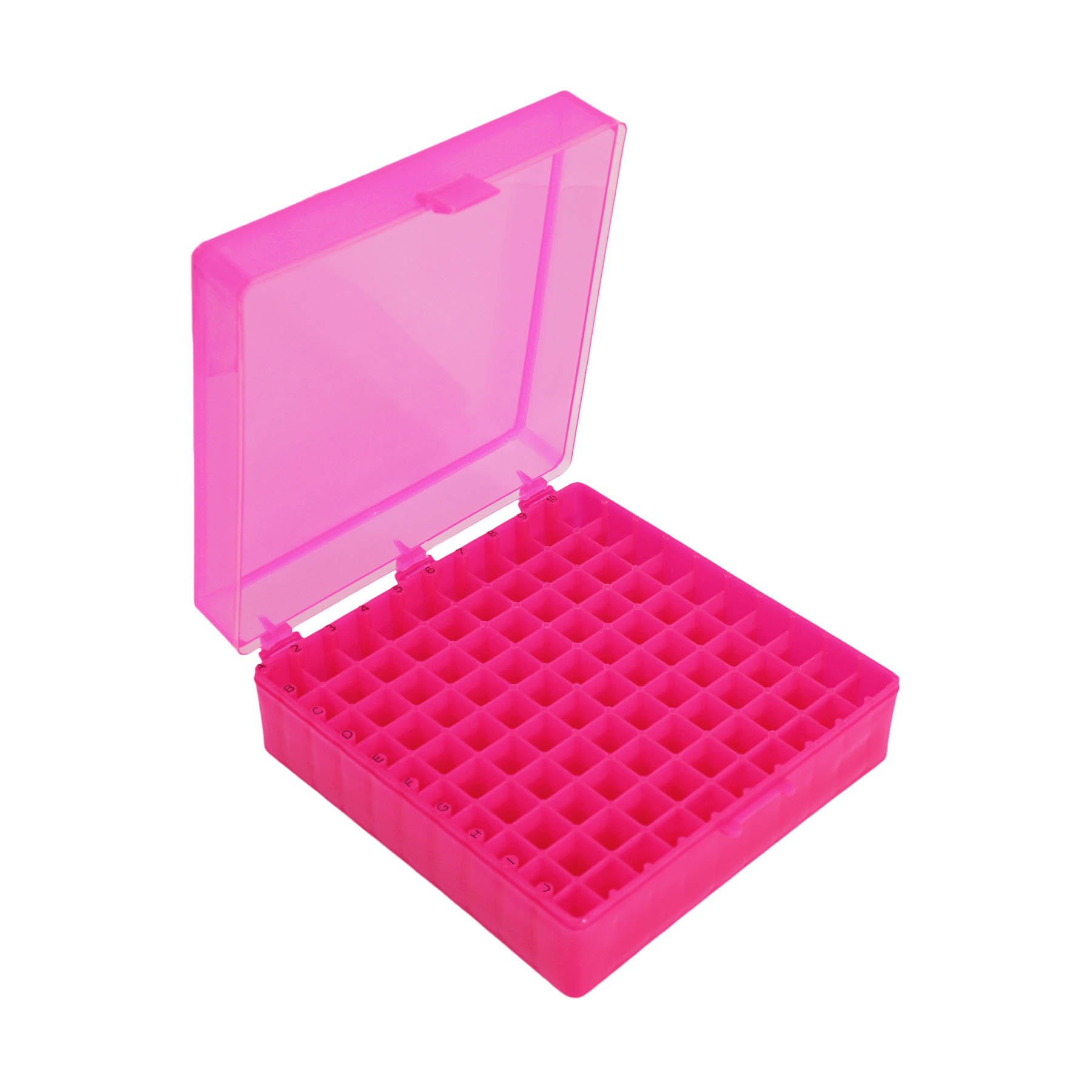Storage Box with Hinged Lid for 100 x 1.5mL Tubes - Red (Pack of 5)