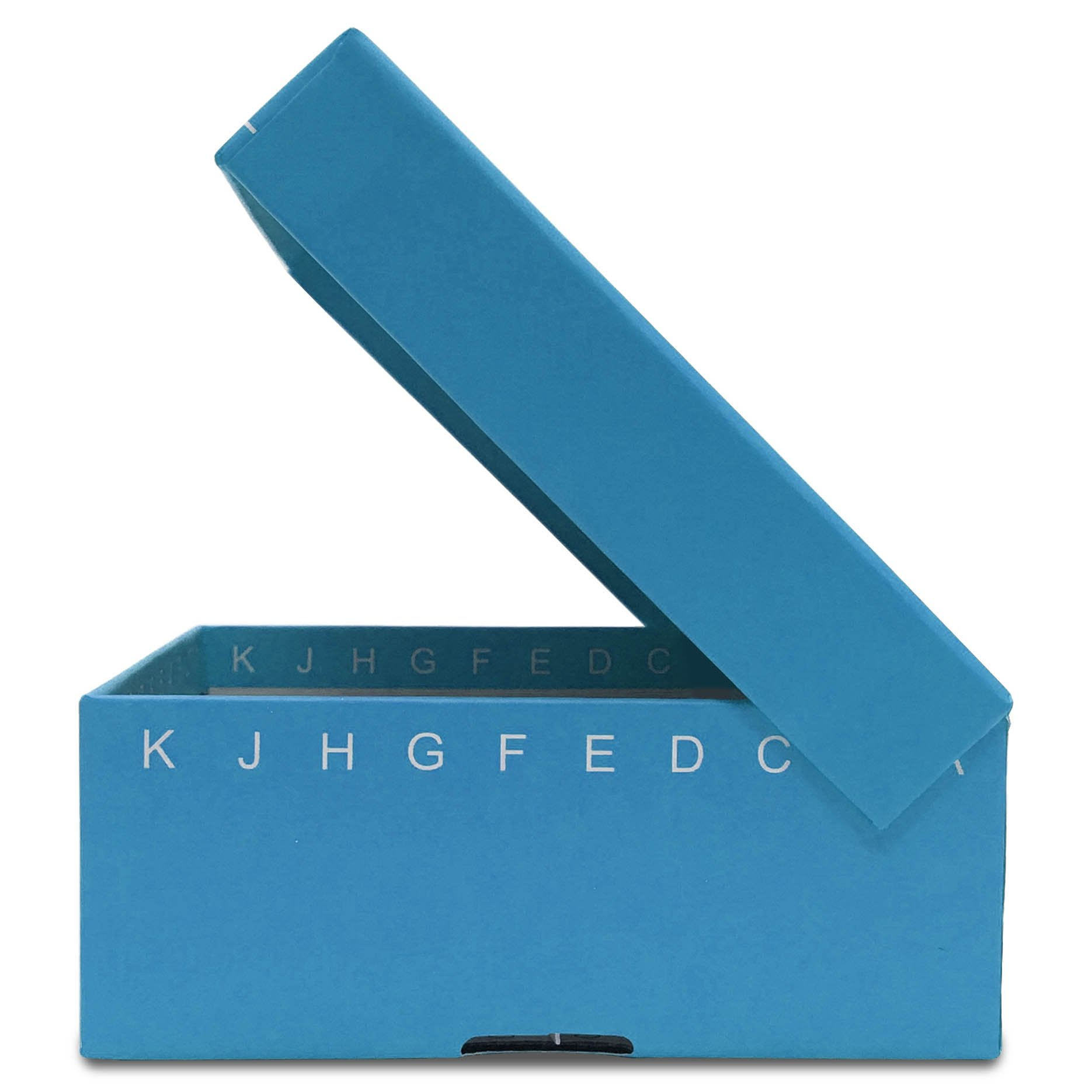 FlipTop Cardboard Freezer Box 100-Place with Attached Hinged Lid - Blue (Pack of 5)