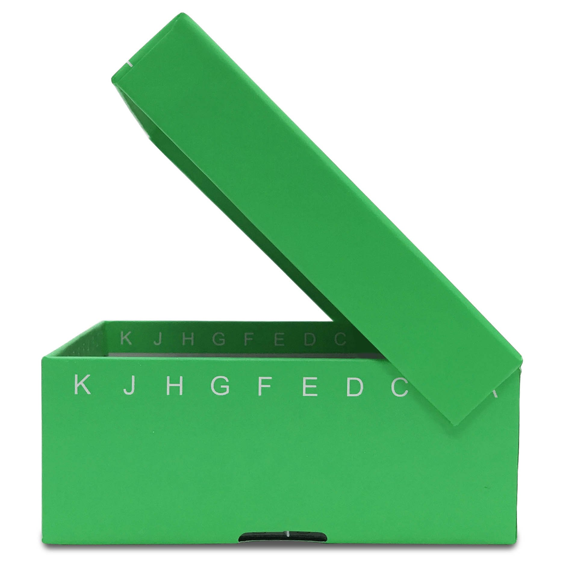 FlipTop Cardboard Freezer Box 100-Place with Attached Hinged Lid - Green (Case of 50)