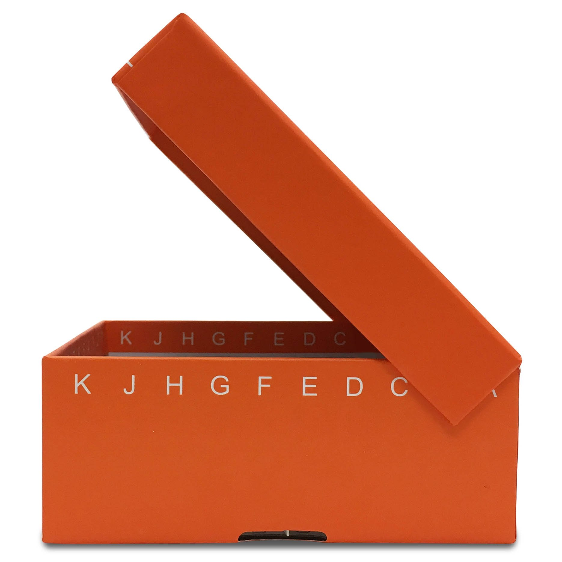 FlipTop Cardboard Freezer Box 100-Place with Attached Hinged Lid - Orange (Case of 50)
