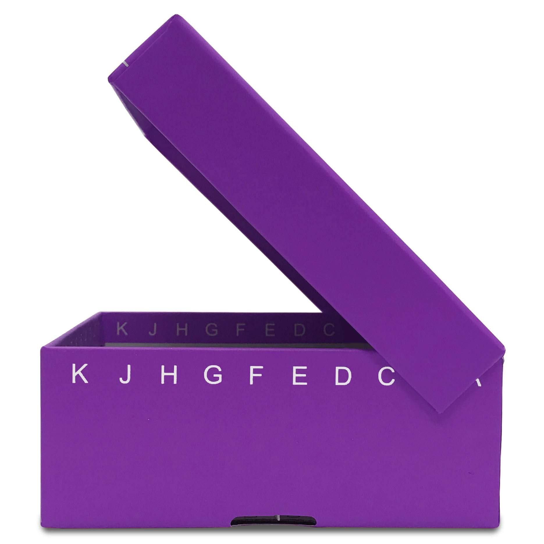 FlipTop Cardboard Freezer Box 100-Place with Attached Hinged Lid - Purple (Case of 50)