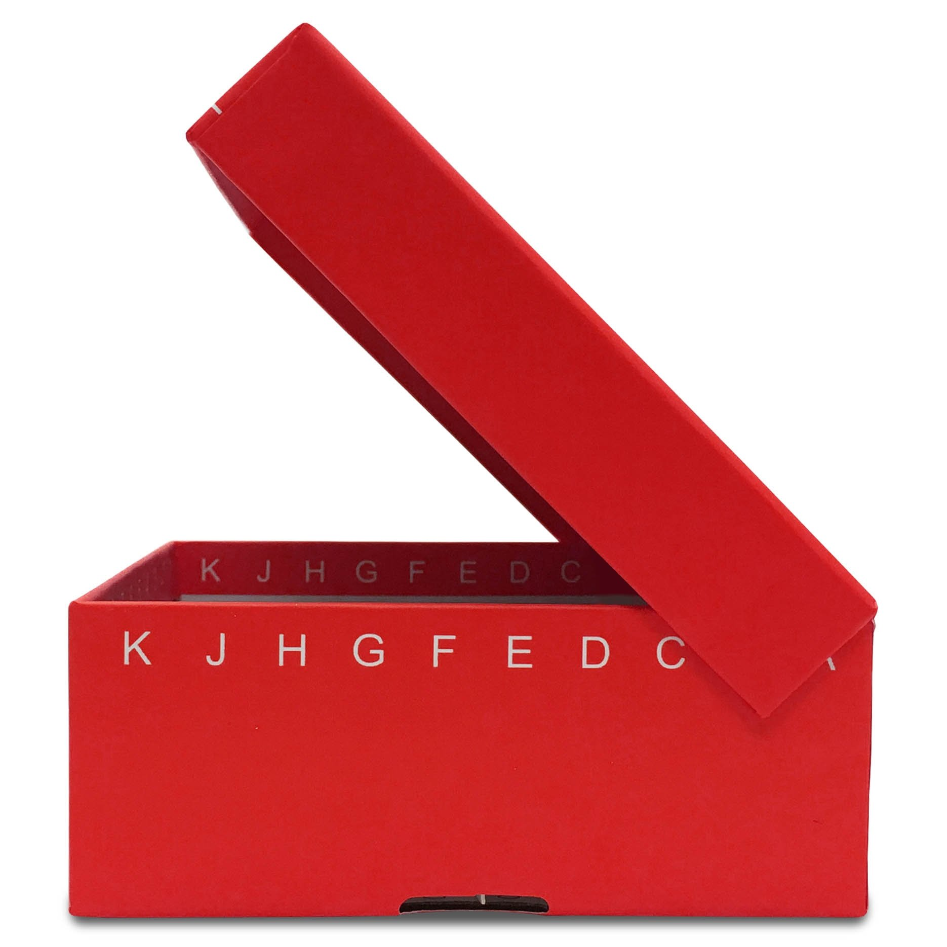 FlipTop Cardboard Freezer Box 100-Place with Attached Hinged Lid - Red (Case of 50)
