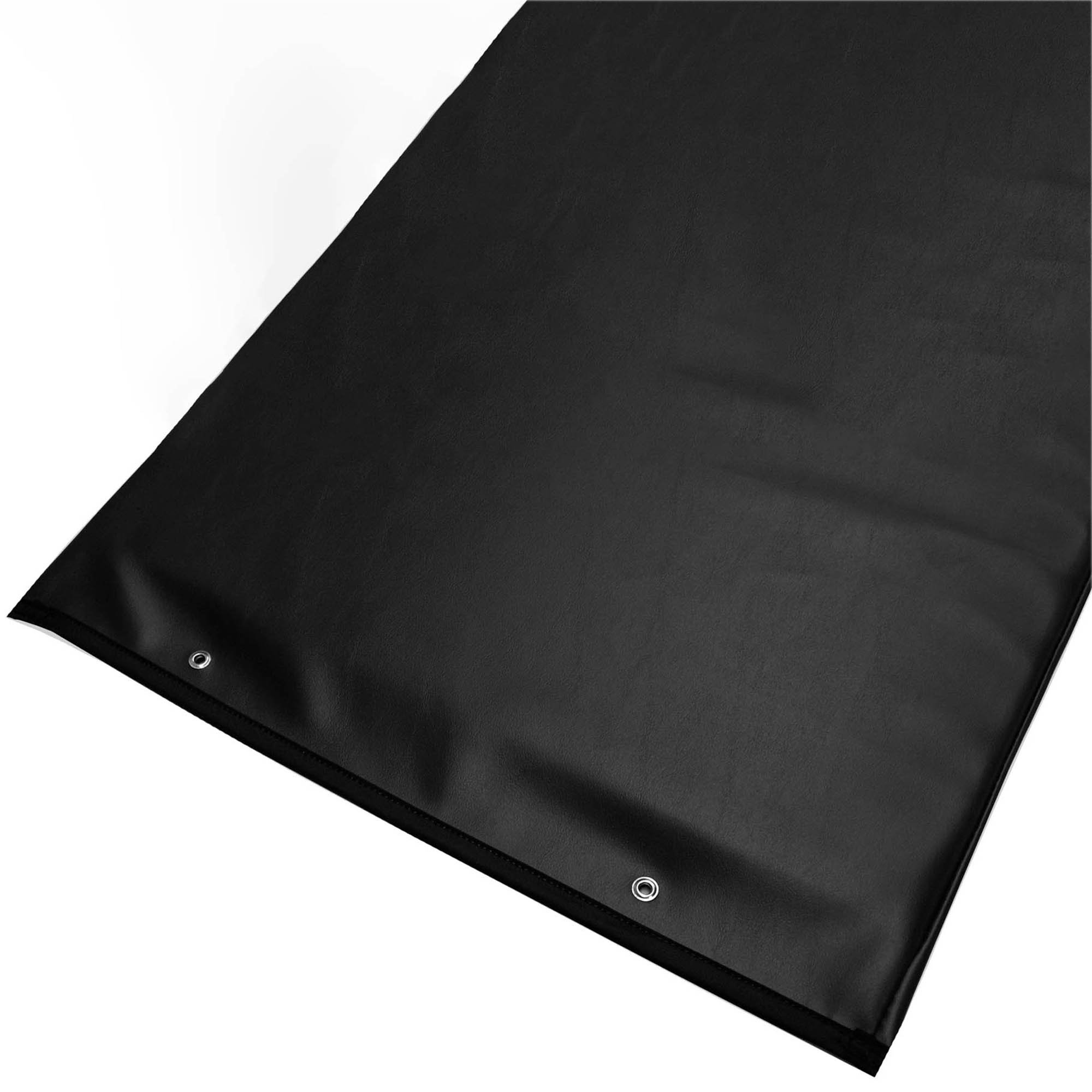 Standard Radiolucent X-Ray Firm Foam Table Pad - Black Vinyl, With Grommets 72
