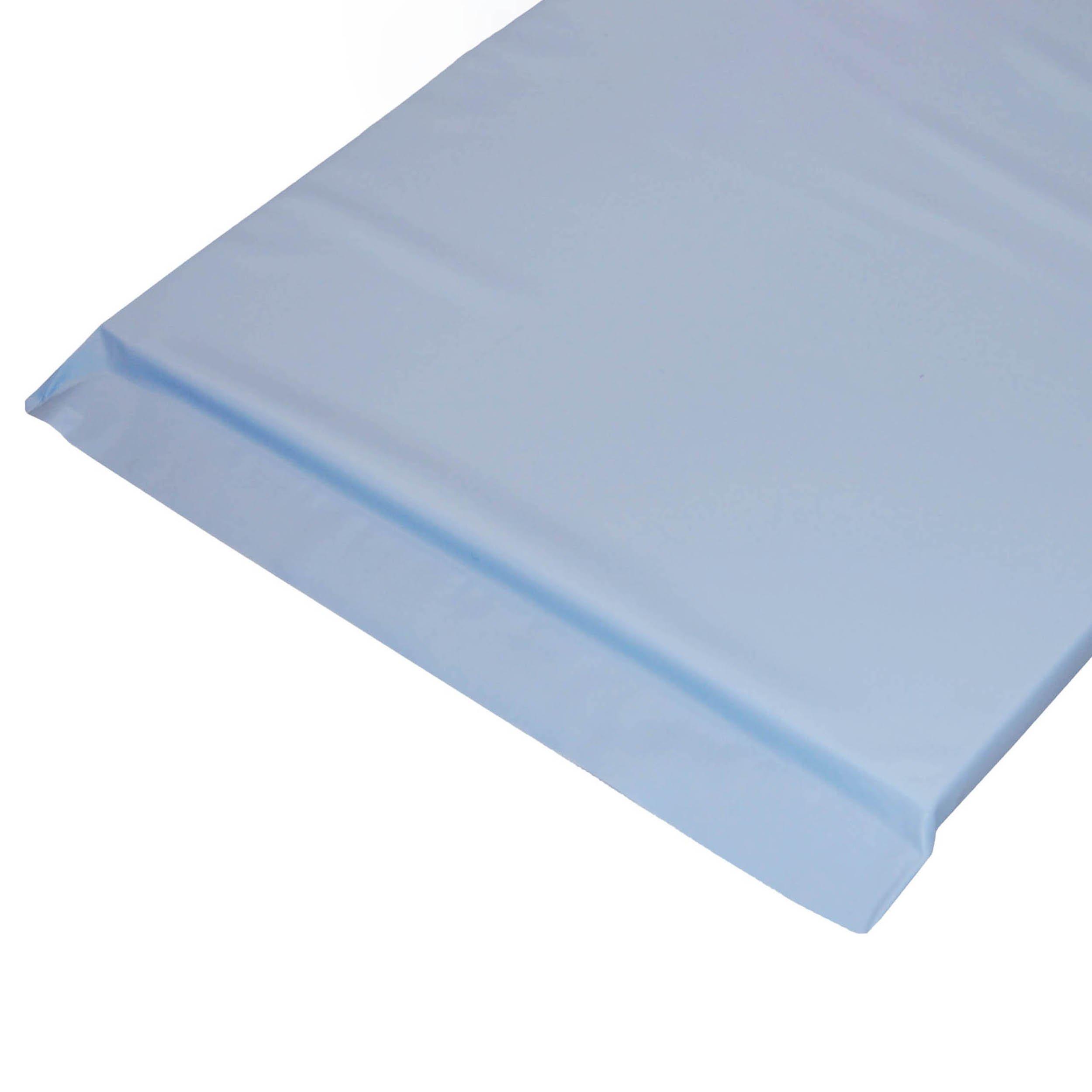 Economy Standard Plus Radiolucent X-Ray Firm Foam Table Pad - Light Blue Vinyl, No Grommets 80