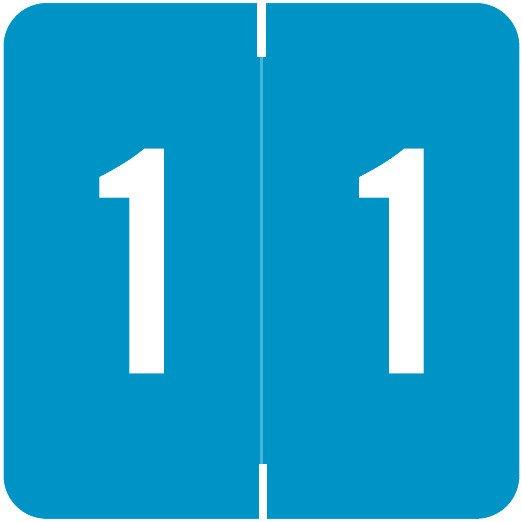 Smead/Barkley FNSDM Match SBNM Series Numeric Roll Labels - Number 1 - Blue