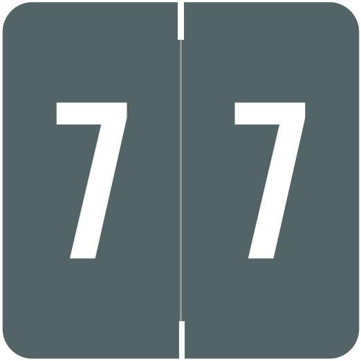 Smead/Barkley FNSDM Match SBNM Series Numeric Roll Labels - Number 7 - Gray