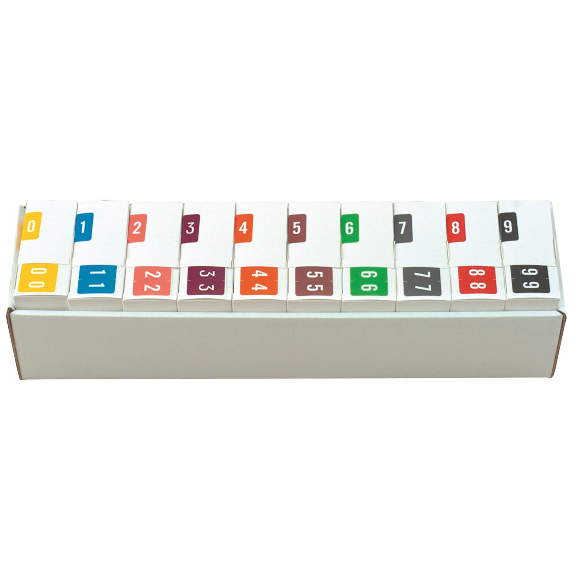 Smead/Barkley FNSDM Match SBNM Series Numeric Roll Labels - Set of Number 0 To 9