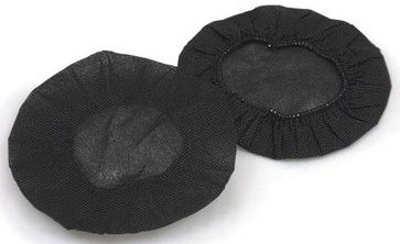 MR-Safe Large Sanitary Headset Covers - Black