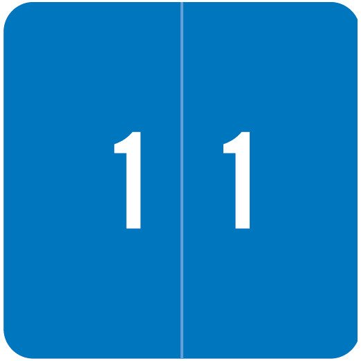 Smead DCC Match SDNM Series Numeric Roll Labels - Number 1 - Blue