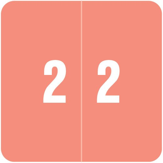 Smead DCC Match SDNM Series Numeric Roll Labels - Number 2 - Pink